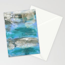 ROCK STUDY IN BLUES Stationery Cards