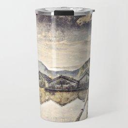 Lake Boat House Water Travel Mug
