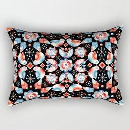 Folkloric Ombre Lovebirds Rectangular Pillow
