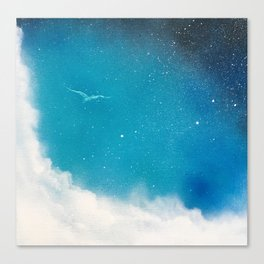 Flight Between Sky and Space Canvas Print