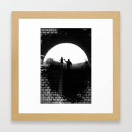 Little Princess in the Tunnel Framed Art Print