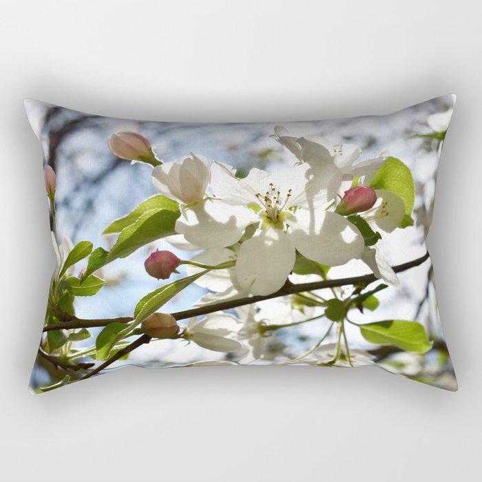 Crabapple FLowers 06 Rectangular Pillow