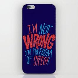 Freedom of Speech iPhone Skin