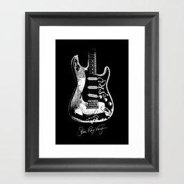 Stevie Ray Vaughan - Guitar-Blues-Rock-legend Framed Art Print