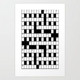 Cross Words Art Print