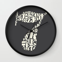 Bodoni 7 Typography  Wall Clock