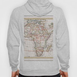 Vintage Map Print - 1740 map of Africa by Giambattista Albrizzi Hoody