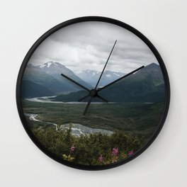 Kenai Fjords Wall Clock