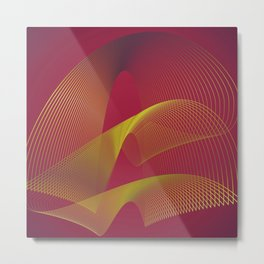 """Gold power"" minimal modern art Metal Print"
