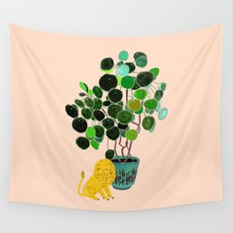 Chinese Luck & Lion Wall Tapestry