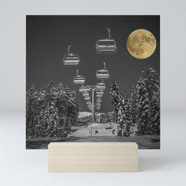 Chair Lift to the Moon Mini Art Print