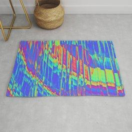 Iridescent Cosmic Rays Pop Art Rug
