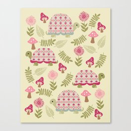 Cheerful Turtles Canvas Print
