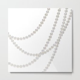 White Pearls Metal Print
