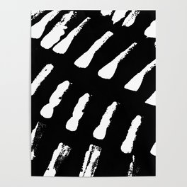 Minimal [2]: a simple, black and white pattern by Alyssa Hamilton Art Poster