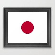 Flag of Japan Framed Art Print