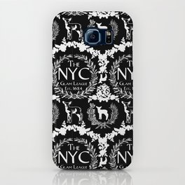 NYC Glam League Crest No. 5 in Black + White iPhone Case