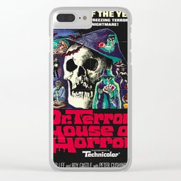 House of Horrors, doctor Terrors, vintage horror movie poster Clear iPhone Case