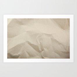 Beige Canvas Texture. Grunge Horizontal Background. Art Print