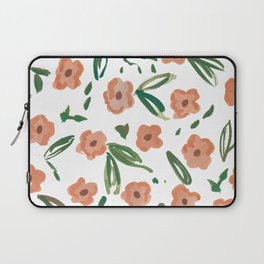 Live Simply Floral Pattern Laptop Sleeve