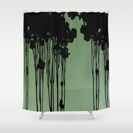 Forest Silhouette by Seasons K Designs Shower Curtain