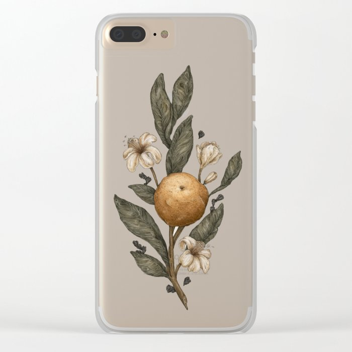 Clementine Clear iPhone Case