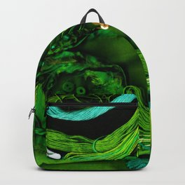 Sewing Notions - Green & Turquoise Backpack