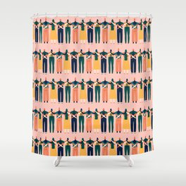 Sisters around the world Shower Curtain