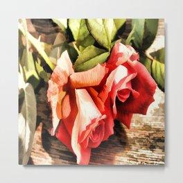Timeless Tropicana Roses Metal Print