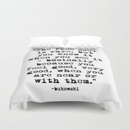 Charles Bukowski Quote Free Soul Duvet Cover