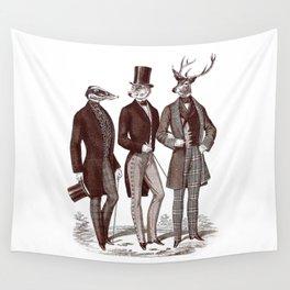 Gentlemen in the Woods Wall Tapestry