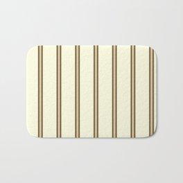Cream and Brown Stripes Bath Mat