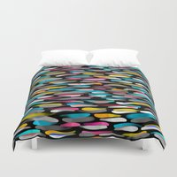 stripes Duvet Covers featuring Stripes by Meryl Pardoen