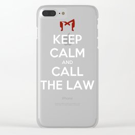 Keep Calm and Call the Law Clear iPhone Case