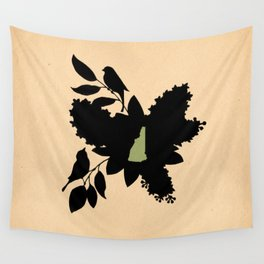 New Hampshire - State Papercut Print Wall Tapestry