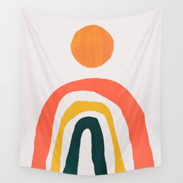 Sunrise over rainbow hill Wall Tapestry