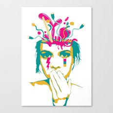 Liquid thoughts:Girl Canvas Print