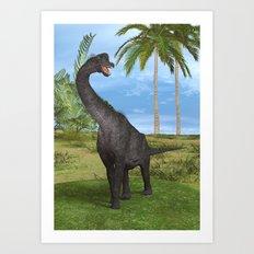 Dinosaur Brachiosaurus Art Print
