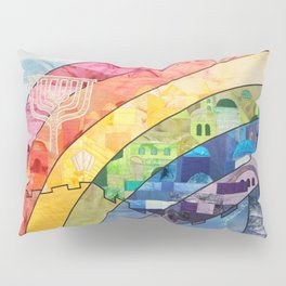 Rainbow over Jerusalem (2) Pillow Sham
