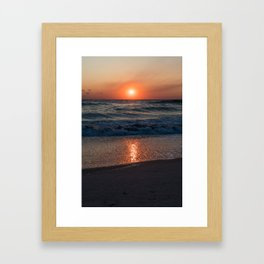 Canaveral Seashore Sunrise Framed Art Print