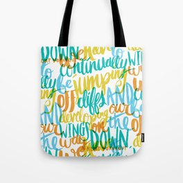 ...JUMPING OFF CLIFFS Tote Bag