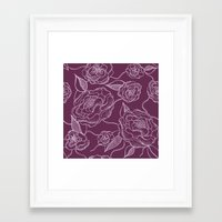 floral pattern Framed Art Prints featuring Floral Pattern by Vickn