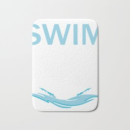 Competitive Swimming Design For Dads Bath Mat