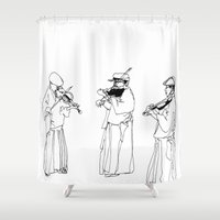 violin Shower Curtains featuring Violin enka by Jonas Ericson