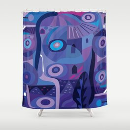 Blue Pozole Shower Curtain