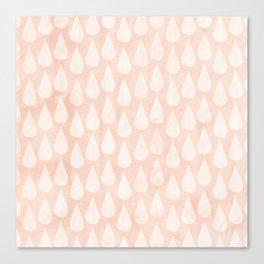 Big Drops Blush Coral Canvas Print