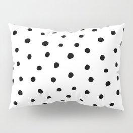 Polka Dot White Background Pillow Sham