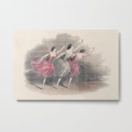 The Three Ballerinas Metal Print