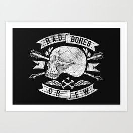 Skull symbol Art Print