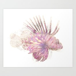 Lets draw a Lionfish Art Print